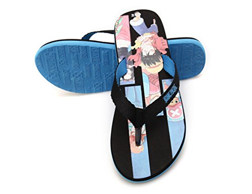 Bromeo One Piece Anime Unisex Flip Flops Chanclas 38