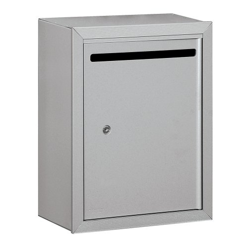 Salsbury Industries 2240AP Standard Surface Mounted Aluminum Letter Box with Commercial Lock