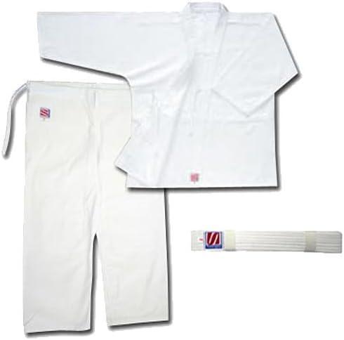 九櫻(クサクラ) 合気道衣 晒刺子 5号 (上衣、ズボン、帯セット) AN5