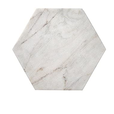 Bloomingville Marble Hexagon Cutting Board, White