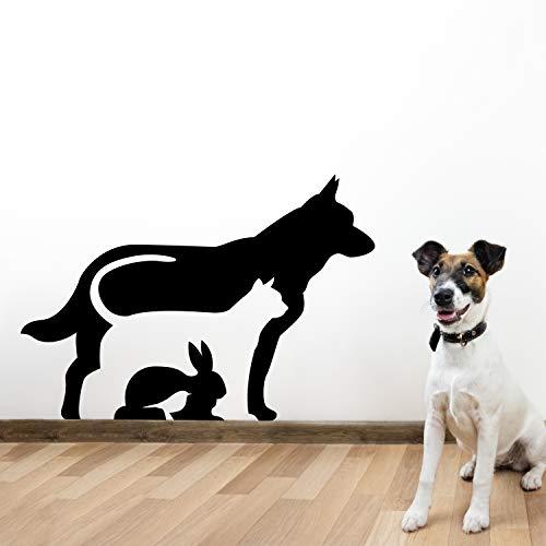 Vinyl Pet (Vinyl Wall Art Decal - Dog Cat Bunny Bird - 22