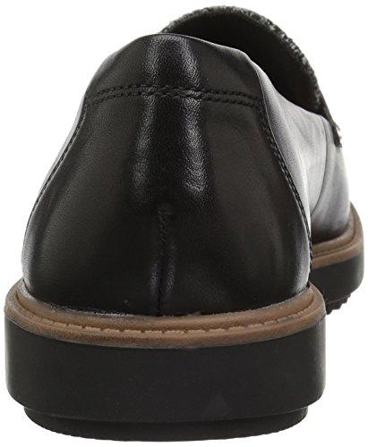 Leather Raisie Loafer Clarks Women's Combi W Us Arlie tweed 090 Black qOqXxt