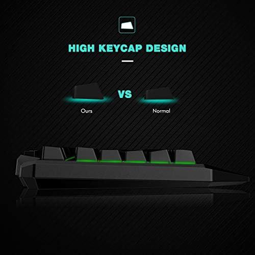 Havit Keyboard Rainbow Backlit Wired Gaming Keyboard Mouse Combo, LED 104 Keys USB Ergonomic Wrist Rest Keyboard, 4800 Dots Per Inch 6 Button RGB Mouse for Windows Gamer Desktop, Computer (Black) 41KO fSO0ZL