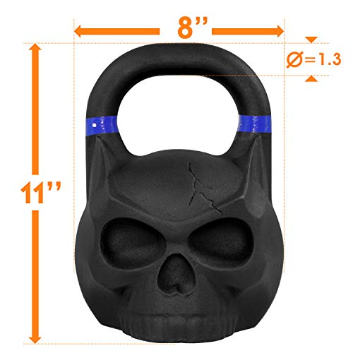 Yes4All Solid Cast Iron Skull Kettlebell - 12kg Kettlebell Weights