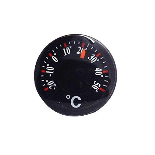 Price comparison product image Portable Black Thermometer Mini Plastic Round Pointer Temperature Sensor Tools