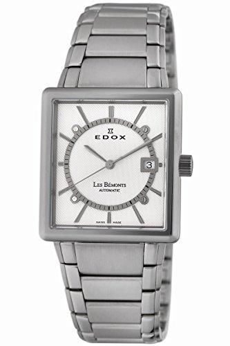 Edox Men's 82005 3 AIN Les Bemonts Rectangular Automatic Watch