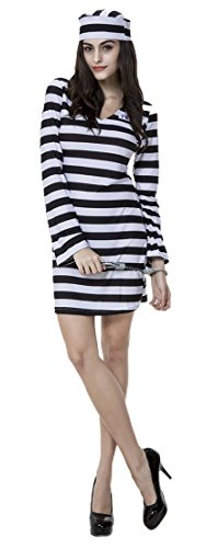 Strong Female Halloween Costumes (Mumentfienlis Womens Prisoner Costume for Halloween)