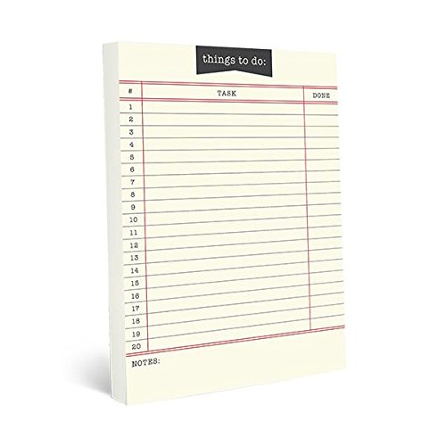 Graphique Library Card Large Notepad, Things to Do Notepad with 150 Tear-Off Sheets, Perfect for Notes, Homework, Recipes, Lists, and More, 6 x 8