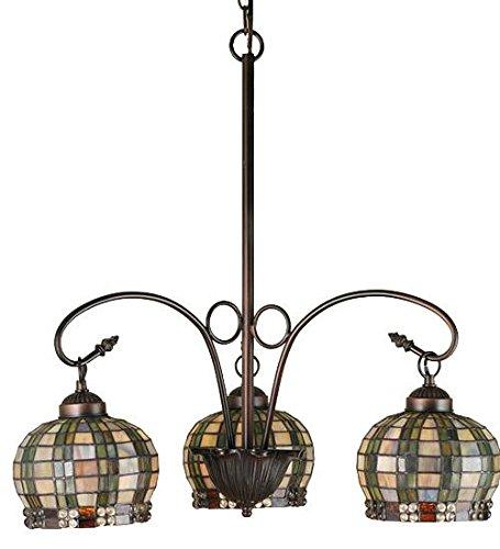 - 3-Light Jeweled Basket Chandelier