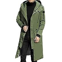JXG Mens Outdoor Long Down Coat Winter Thick Warm Hoodie Jacket