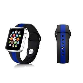 Amazon.com: iMatter Thin Blue Line 42mm Apple iWatch Band ...