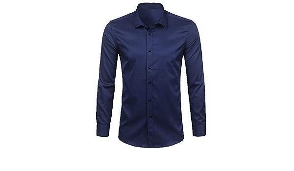 N\P Camisa de vestir de fibra de bambú para hombre, color ...