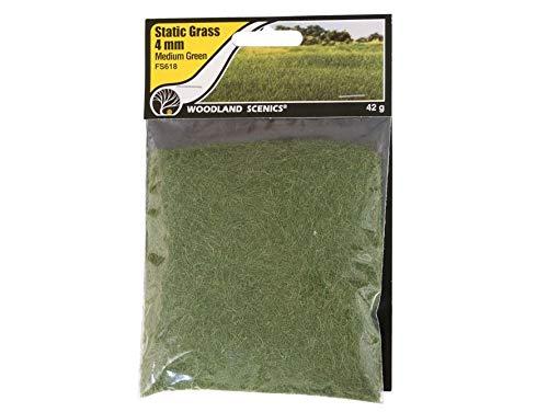 Woodland Scenics FS618 Static Grass, Medium Green 4mm