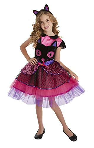 Black Cat Face Halloween Child's Costume (Small 4-6) - Girl Cat Costumes For Halloween