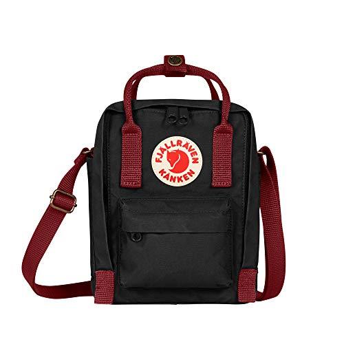 Fjallraven, Kanken Sling Crossbody Shoulder Bag for Everyday Use and Travel, Black-Ox Red
