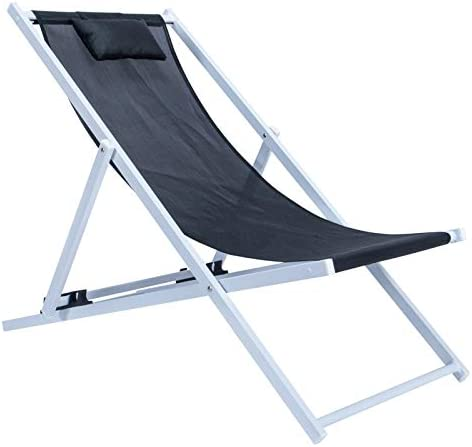 LeisureMod Sunset Outdoor Folding Lounge Beach Chair