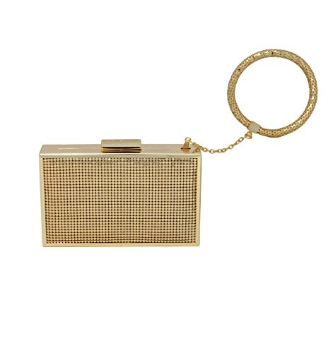 Whiting & Davis Metal Mesh Scale Mai Bracelet Evening Bag, Gold, One Size by Whiting & Davis