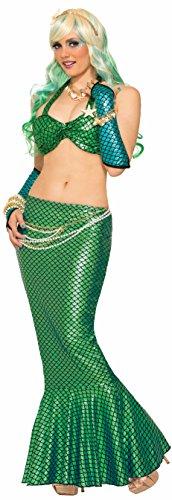 Mermaid Costumes Adult (Mermaid Fin Skirt Adult Costume Green - Standard)