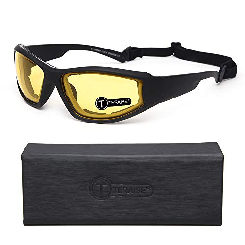 TERAISE Motorcycle Riding Glasses Safety Ski Goggles Adjustable Sunglasses