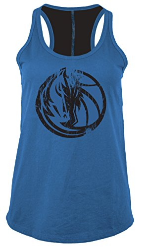 (5th & Ocean NBA Dallas Mavericks Women's Baby Jersey Racer Back Tank with Contrasting Back Yoke, Small, Speed Blue)