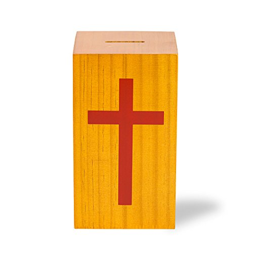 (Source One Wooden Church Offering Donation Box w/Cross (1 Pack, Small))