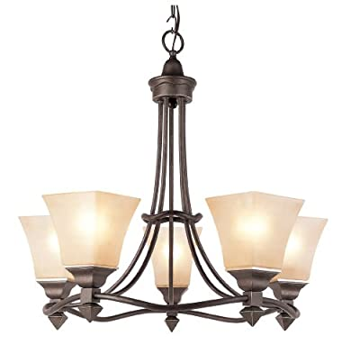 Trans Globe 5 Light Chandelier Antique Bronze 70235