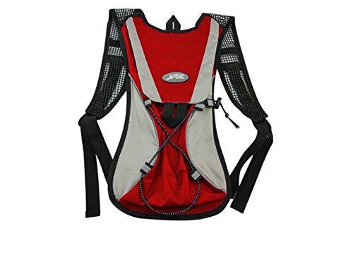 OVIIVO Bike 2L Hydration Pack Water Rucksack Backpack Hydration Bladder Backpack for Biking Cycling Travel Hiking (Red) by OVIIVO