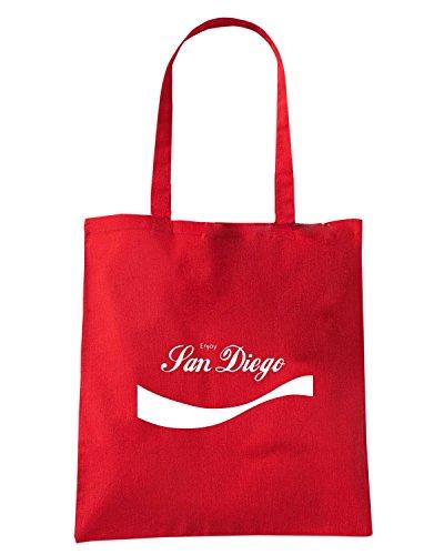 T-Shirtshock - Bolsa para la compra ENJOY0080 Enjoy San Diego Rojo