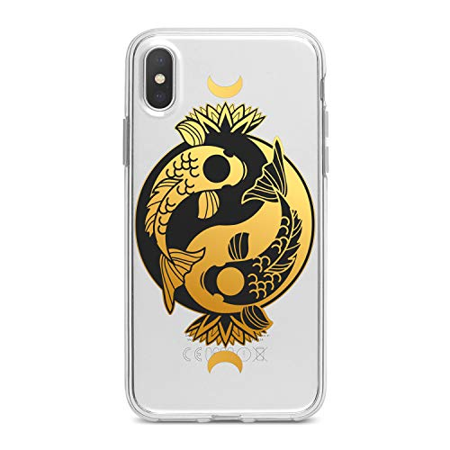 Lex Altern TPU Case for iPhone Apple Xs Max Xr 10 X 8+ 7 6s 6 SE 5s 5 Yin Yang Koi Fishes Smooth Koi Soft Clear Gold Flexible Circle Cover Print Slim fit Lotus Gift Design Lady Lightweight Boho Girl]()