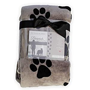Pawprints Left by You Pet Memorial Blanket with Heartfelt Sentiment - Comforting Pet Loss/Pet Bereavement Gift (Non Personalized) 20