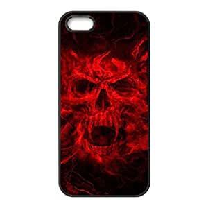 Red melting skull Phone Case for iPhone 5S(TPU)