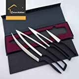 5cr17mov Deglon Meeting knife 4PC SET - Premium Stainless steel Chef Knife Set- Best Razor Sharp Multipurpose for Precise Slicing, Carving, Cutting & Chopping cooking knife set