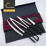 5cr17mov Deglon Meeting Design knife 4PC SET - Premium Stainless steel Chef Knife Set- Best Razor Sharp Multipurpose for Precise Slicing, Carving, Cutting & Chopping cooking knife set