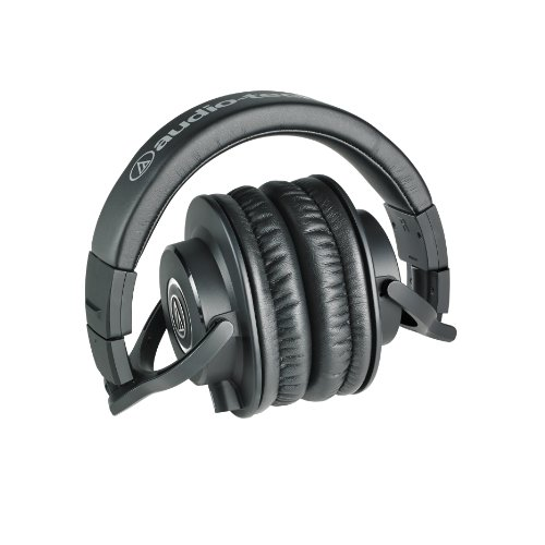 Audio Technica ATH-M40x - Easily Foldable, Swivel 90 degrees and Rotate.