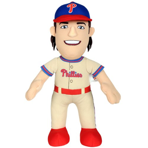 MLB Philadelphia Phillies Cole Hamels Plush Doll, 10-Inch, Natural Brown (Philadelphia Plush Phillies)