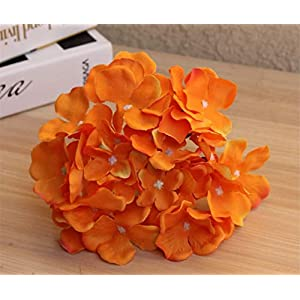 Rvbyjfg Silk Flower Wedding Decoration Artificial Flower Hydrangea Wedding Flower Decoration Orange 66