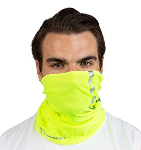 High Visibility Reflective Safety Face Clothing - Neck Gaiter, Bandana Dust Mask, Sun Shade Shield, Multifunctional Headwear (YELLOW) ()