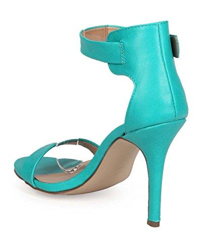 Breckelles Breckelles Eb57 Cinturino In Pelle A Punta Aperta Cinturino Alla Caviglia Sandalo Stiletto A Fascia