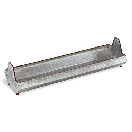galvanized metal chicken feeder - 1