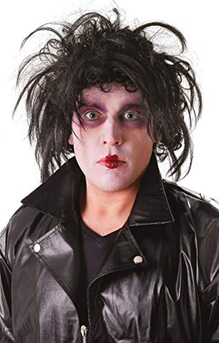 Mens Black Crazy Scissors TV Book Horror Film Movie Halloween Fancy Dress Costume Outfit Accessory -