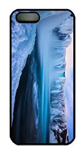 thinnest cases waterfall godafoss iceland PC Black Case for iphone 5/5S