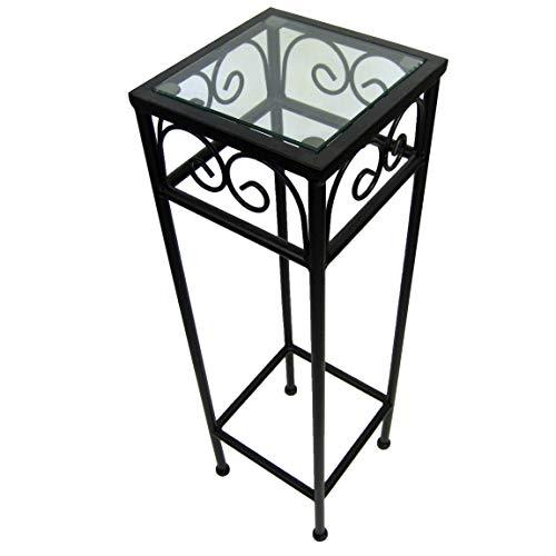Nesting Tall Square Tables Set of Three - Black (Iron Tables Nesting Square)