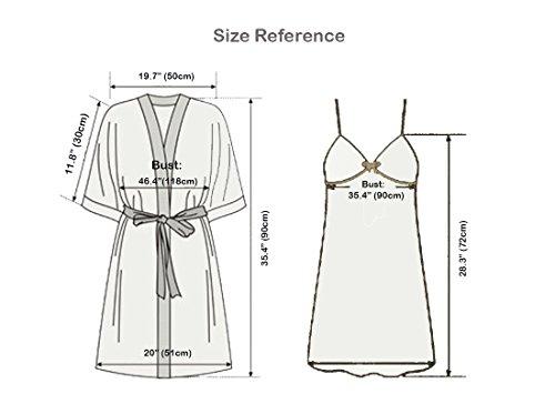 Olivery Womens Faux Silk Sleepwear 6e8f627e0