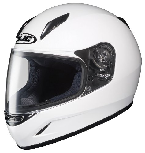 HJC CL-Y Youth Motorcycle Helmet (White, Small)