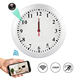 MINGYY 1080P WiFi Spy Hidden Camera Wall Clock Motion Detection Video Camera Remote View Camcorder Baby Pet Nanny Monitor Cameras for Home Surveillance Security Review