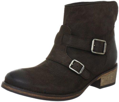 Queenie ESPRIT cuero fashion 233 Buckle Boot mujer dark de para Botines mocca Marrón I10370 d00xX6