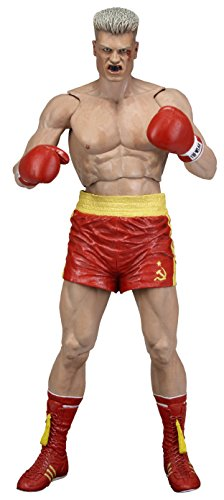 "NECA Rocky 40Th Anniversary Series 2 Drago Scale Action Figure(Red Trunks Version), 7"", Red"