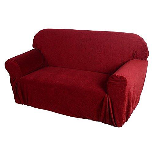 Price comparison product image Home Decor Couch Cover, Sofa Stretch Slipcover Sofa Cover,  Sofa Style Wine Red