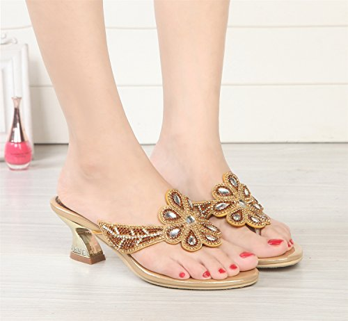 Heels amp; Slippers Women's Comfort E Flip Evening Dress Summer for Low PU Flops Casual amp; Shoes Heel Party qHEEt8