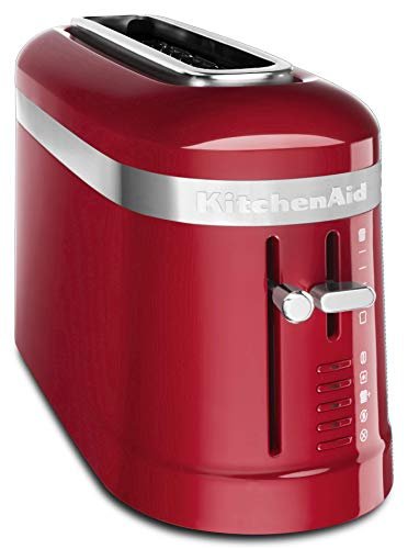 KitchenAid KMT3115ER 2 Slice Long Slot High-Lift Lever Toaster, Empire Red (Red Kitchen Aide Toaster)